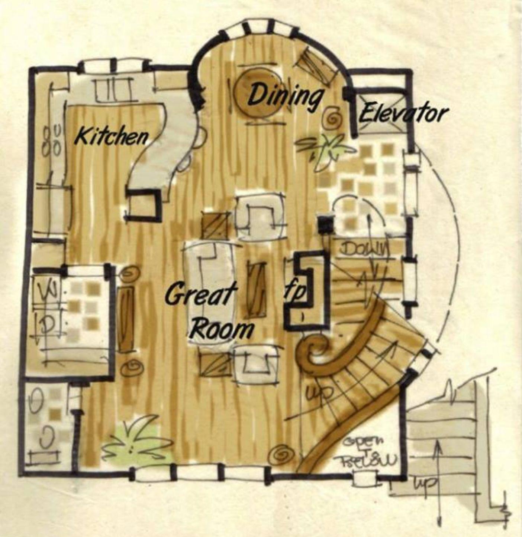 Hobbit House Plan In 2020 Unique House Plans Hobbit House
