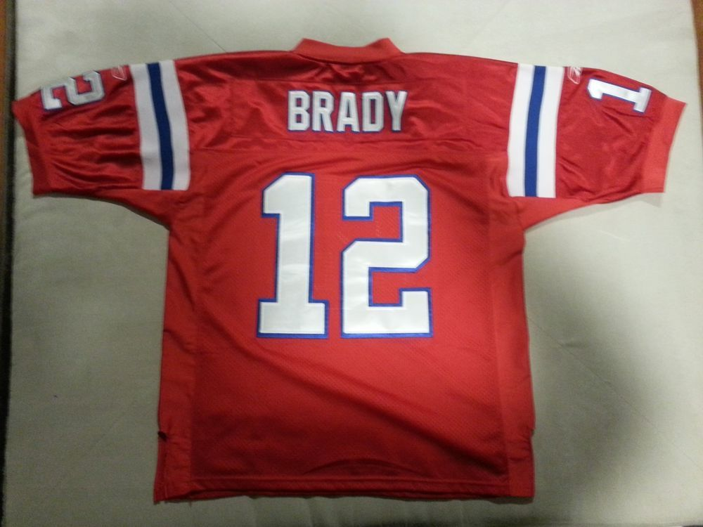 Tom Brady New England Patriots Throwback Red Reebok