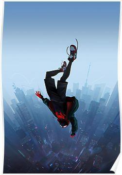 Miles Morales jump Poster by ragsmaroon