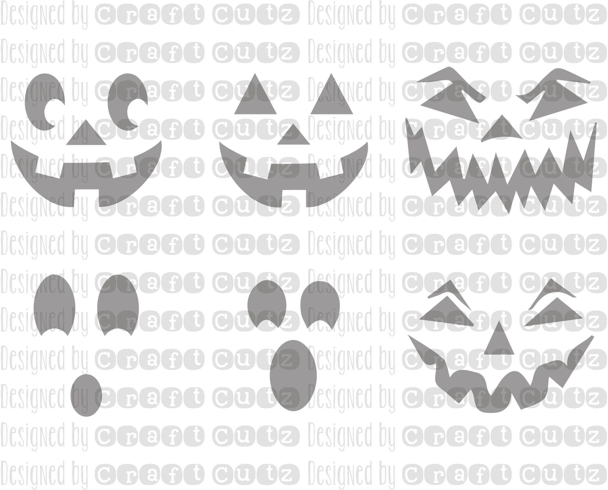 Jack o'lantern svg Digital Download Pumpkin Face