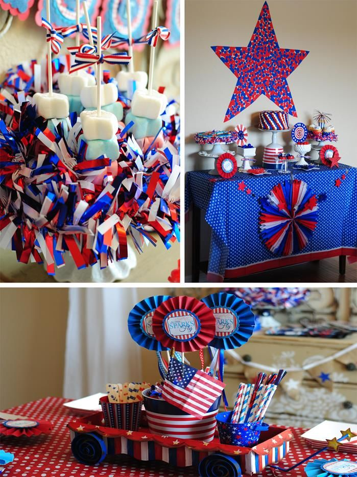 Red White Blue July 4th Party Planning Ideas Cake Idea Supplies Blue Birthday Parties Birthday Parties 4th Of July Party