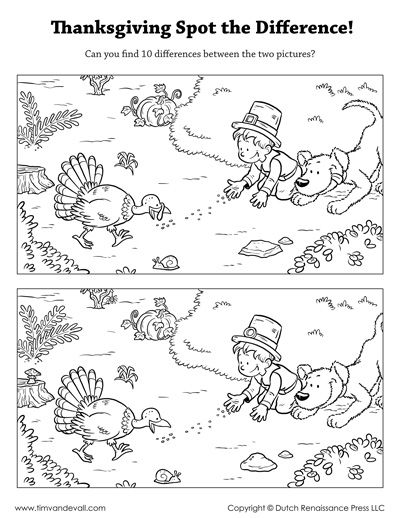 thanksgiving spot the difference  Best of FREE Teacher Tips for