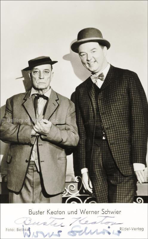 Buster Keaton and Werner Schwier- 1962 Berlin Film Fest (??).
