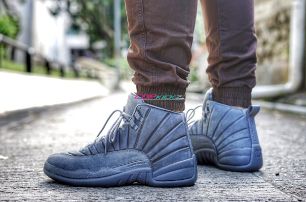 buy air jordan 12 psny on foot