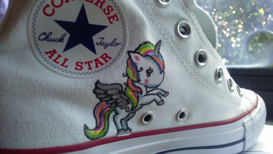 converse con unicorno