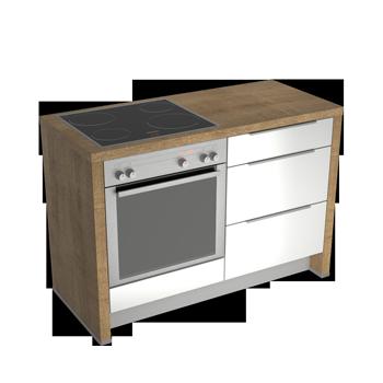 Küchenmodule premium küchenmodule mit einem korpus in eiche provence dekor und