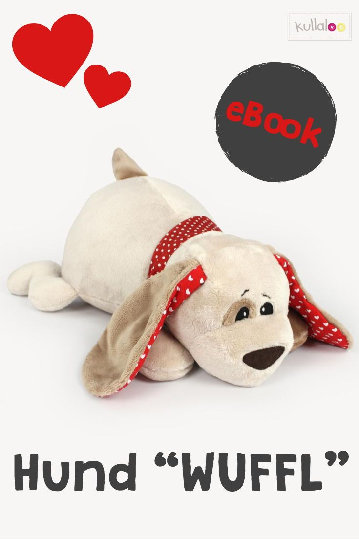 Schnittmuster Kuscheltier WUFFL zum Hund Nähen | kullaloo #stuffedtoyspatterns