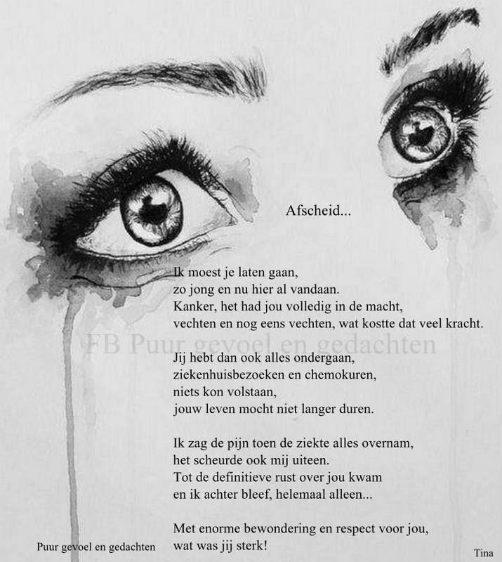 Gedicht Over Afscheid Mbt Ziekte Zegmooiewoorden