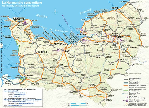 Normandy transport mapjpg France 2014 Pinterest Normandy map