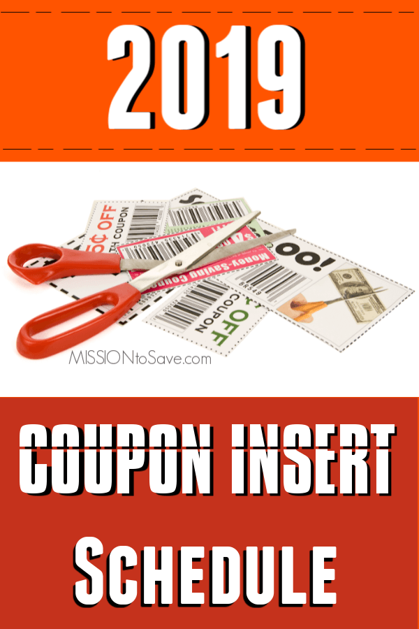 2019 Coupon Insert Schedule - Savings in Your Sunday Newspaper Each Week #couponing