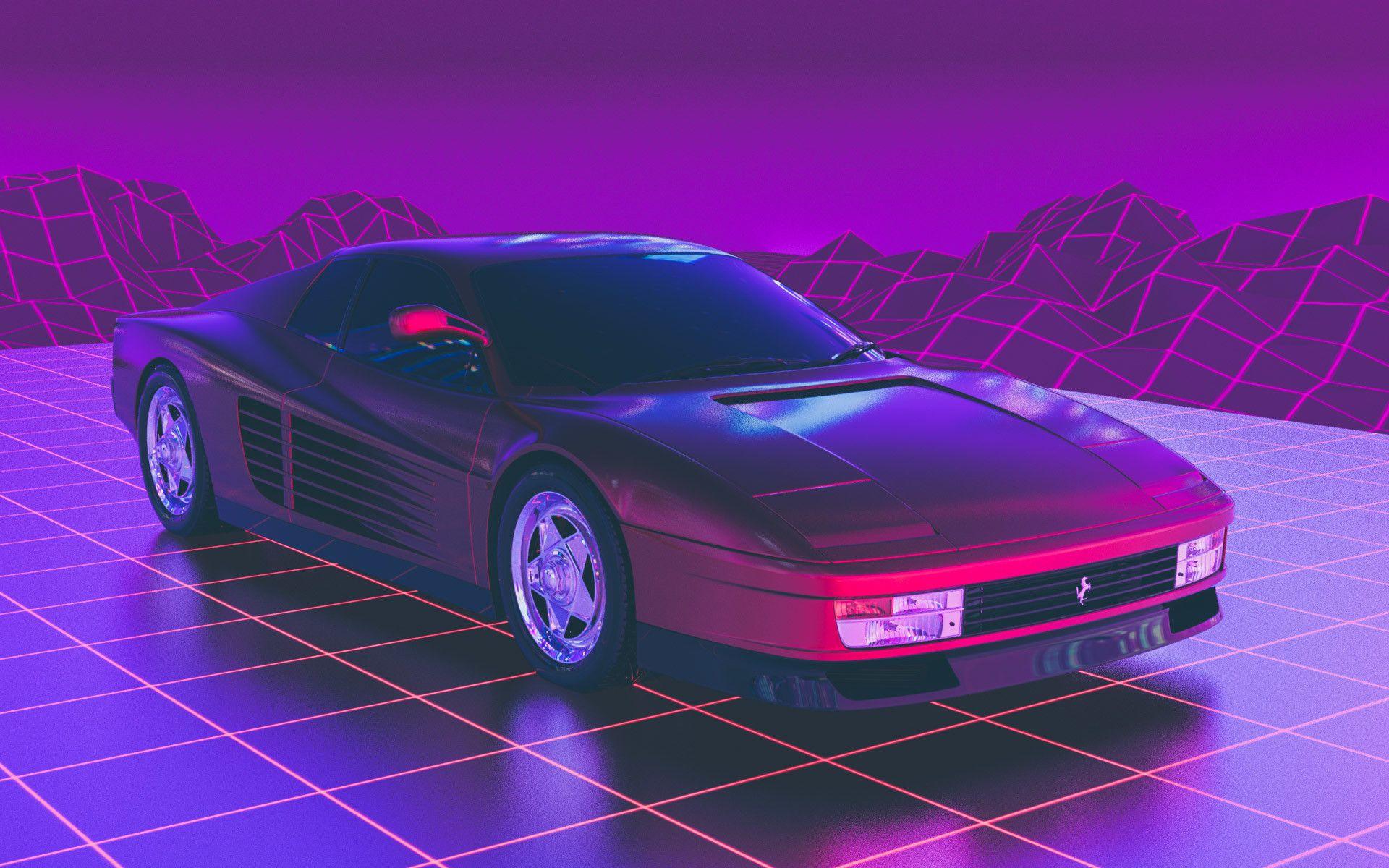 Ferrari Testarossa Arslan Safiullin Ferrari Testarossa Vaporwave Synthwave