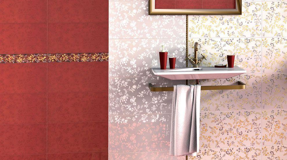 Dise o decoraci n cuarto de ba o baldosas ceramica for Cenefas ceramica