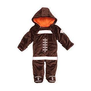 small wonders infant boys footed fleece sleeper costume football - Infant Football Halloween Costume