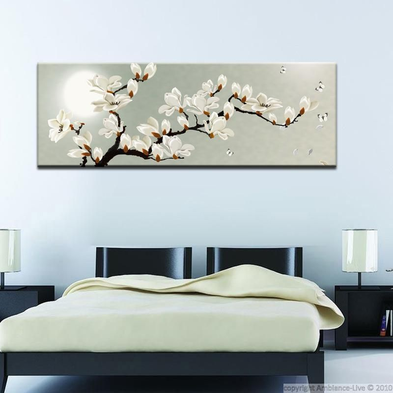 Canvas Painting Springtime Magnolia Flower Print Poster Wall Pictures For Living Room Home Decoration Wall Art Decor Gift Living Room Pictures Wall Art Decor Home Decor