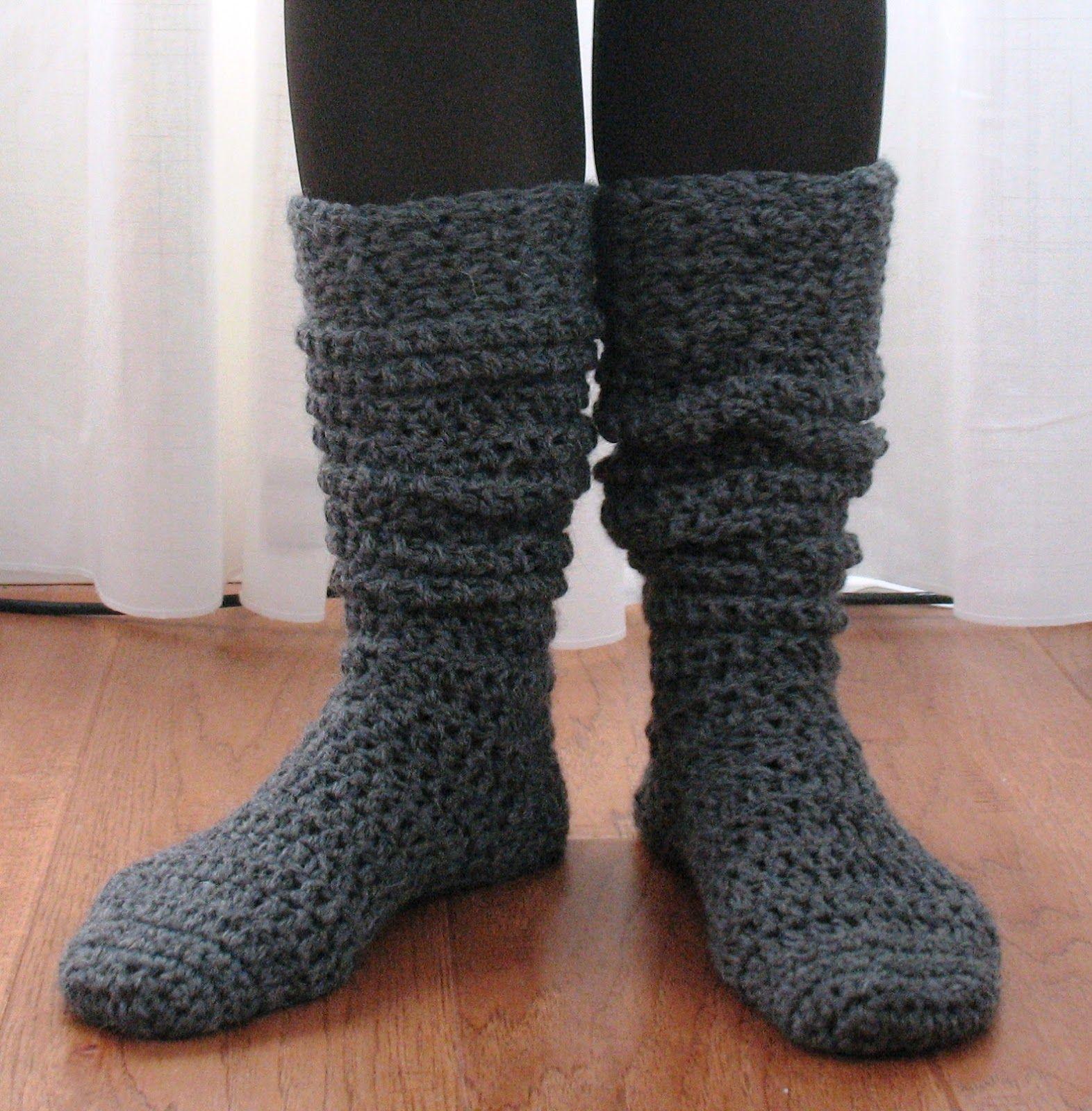 Patrón para unos calcetines calientitos | Crochet | Pinterest ...