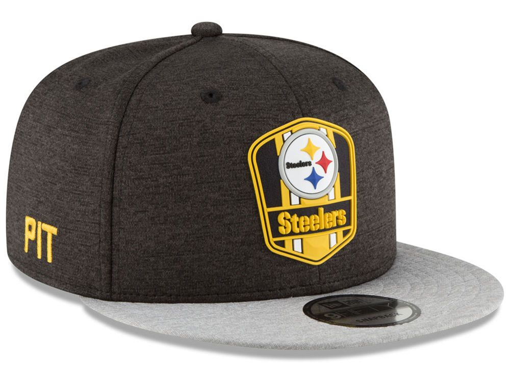 4c061b618 Pittsburgh Steelers New Era 2018 Official NFL Sideline Road 9FIFTY ...