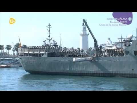 Desembarco De La Legion Y Traslado Cristo Buena Muerte Málaga Málaga La Legion Muerte