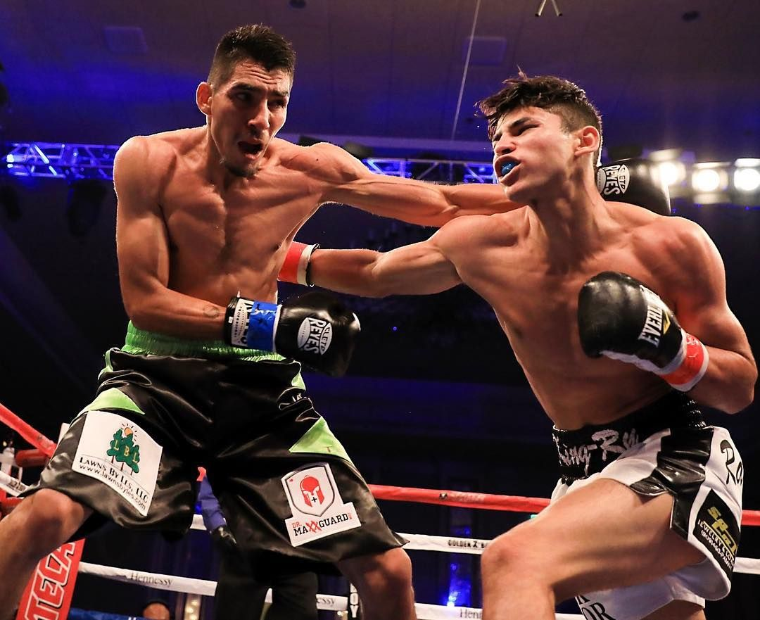 ef11abceaaa33d Ryan Garcia @kingryang shocks Cesar Valenzuela with a body during their  Junior NABF Super Featherweight clash in Tucson AZ.