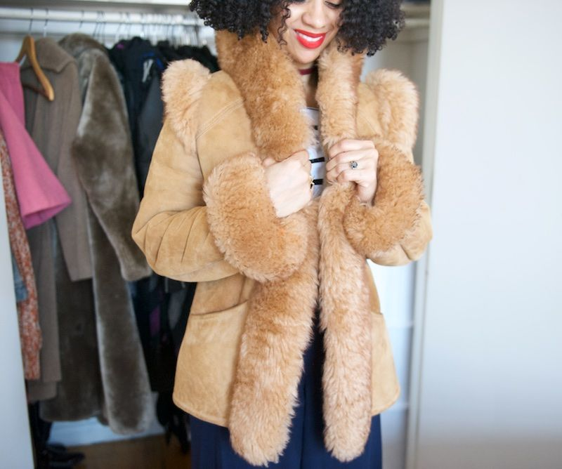 vintage shearling coat | Fashion Lady | Pinterest | Shearling coat ...