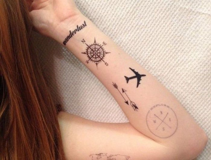1001 Idees Tatouage Pinterest Tattoos Wanderlust Tattoos