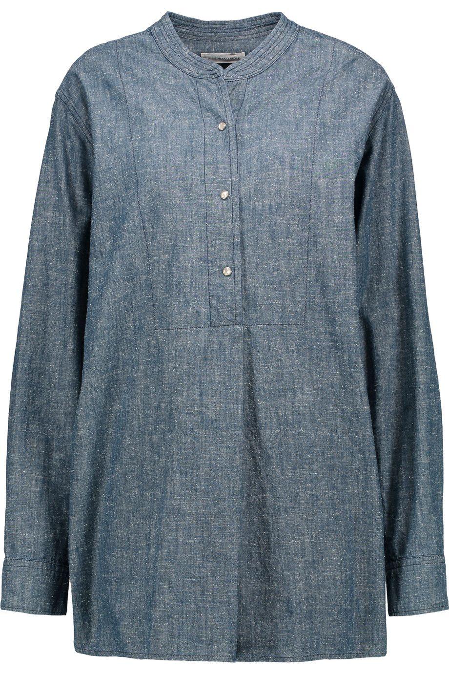 ETOILE ISABEL MARANT Stacy cotton-chambray shirt. #etoileisabelmarant #cloth #shirt