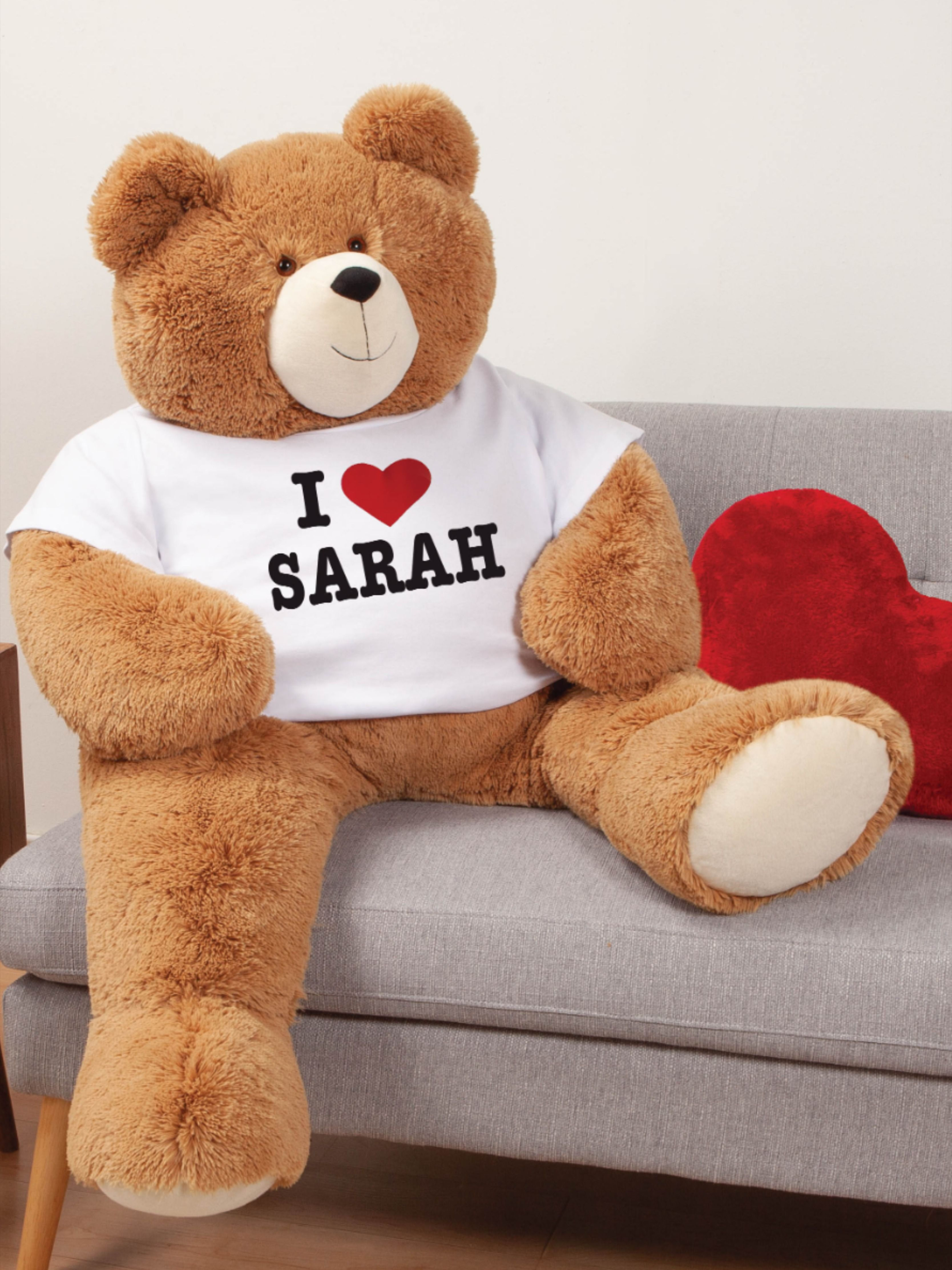 Personalized Big T Shirt Valentine S Day Bear Make Their V Day Extra Special Go Big Teddy Bears Valentines Valentines Day Bears Unique Valentines Gifts