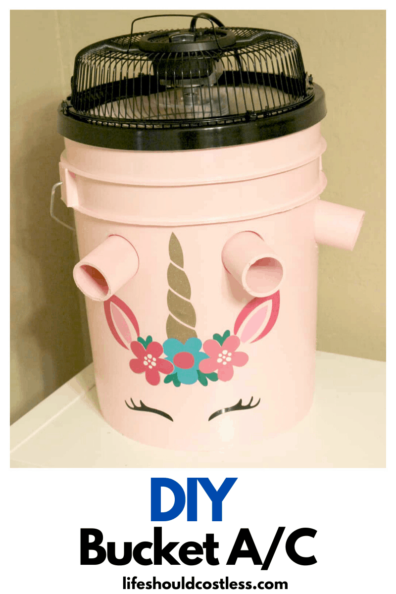 Gallon Bucket Air Conditioner How To Make One Tutorial Lifeshouldcostless Com In 2020 Bucket Air Conditioner Diy Air Conditioner Air Conditioner