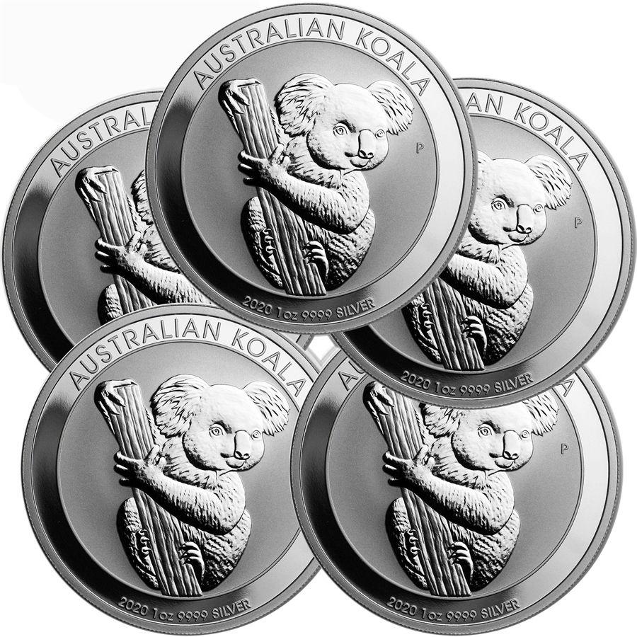 Lot Of 5 2020 1 Oz Silver Australian Koala Coin Bu In 2020 Buy Silver Coins Silver Coins Gold And Silver Coins