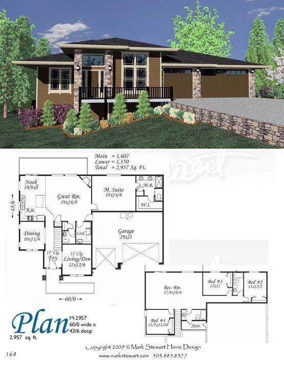 mark stewart home design plan m-2957 | housing | pinterest | modern