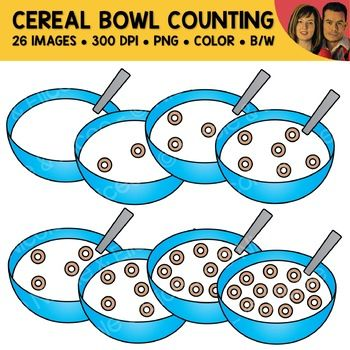 Cereal Bowl Counting Scene Clipart Clip Art Cereal Bowls