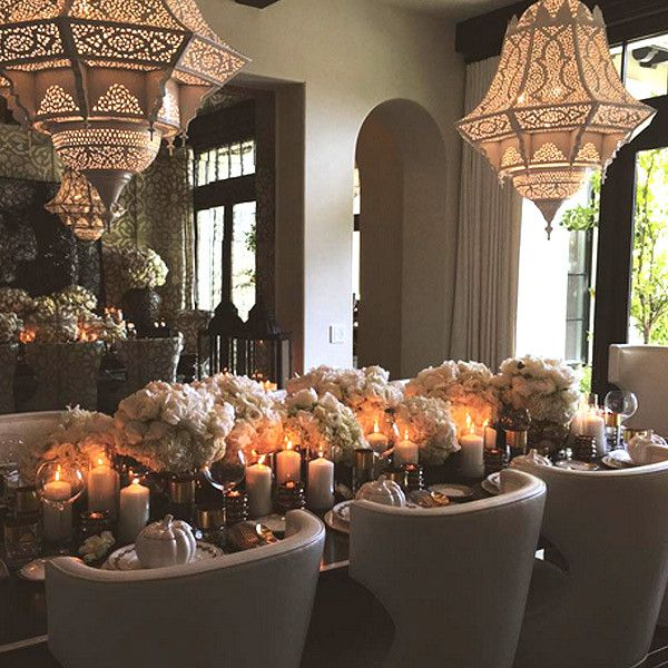 Kim S Tuscan Home Decor: See The Kardashians And Jenners Celebrating Thanksgiving