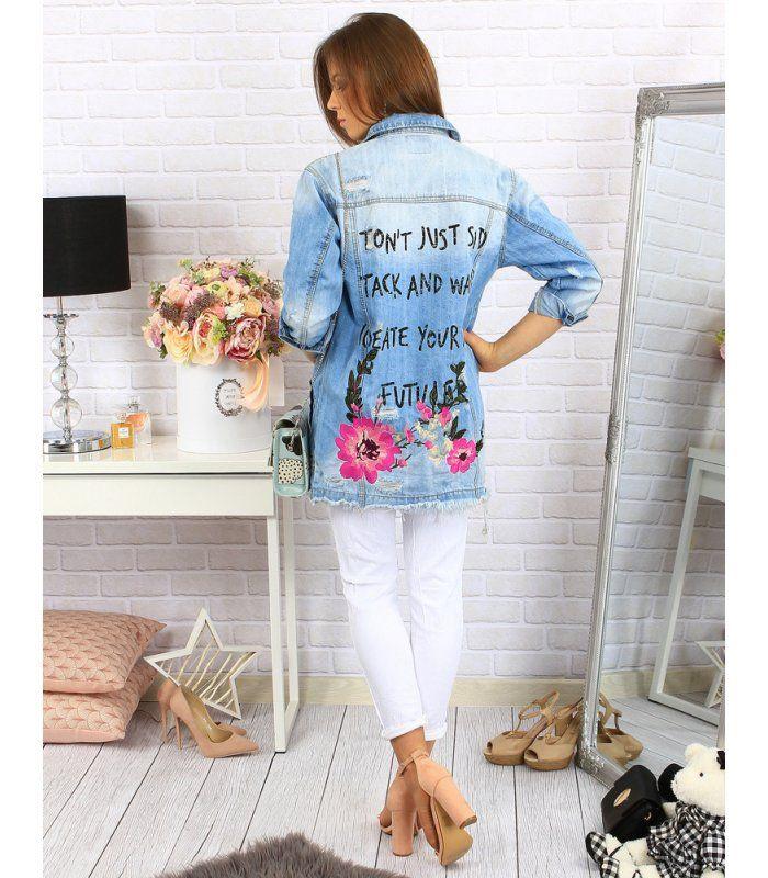 a5a0d3123d13 Modrá dámska džínsová bunda
