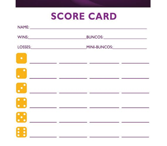 Bewitched Bunco  Printable Halloween Bunco Score And Table Card