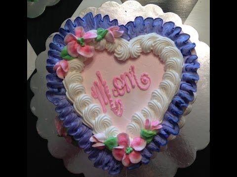 Anniversary Cake Simple Heart Shape Cake Cake Decoration By Geetika Youtube Birthday Cake Decorating Mothers Day Cake Creative Cake Decorating