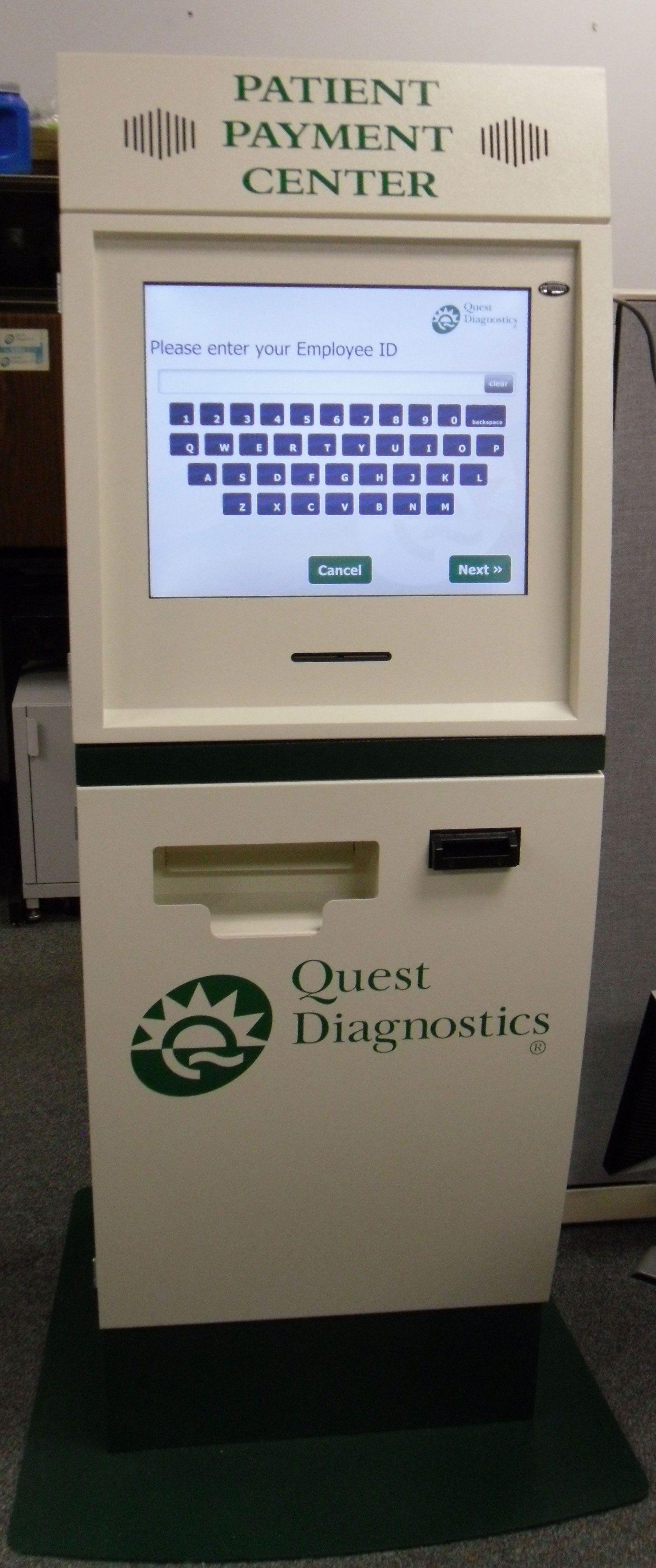 Quest Diagnostics Patient Payment Kiosk   Kiosk Solutions