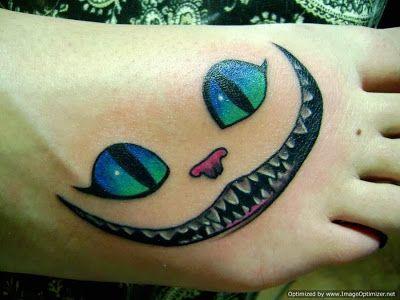 Tatuagem Gato Sorridente De Alice No Pais Das Maravilhas Com