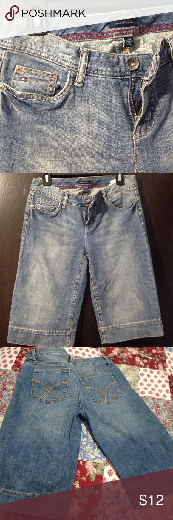 Tommy Hilfiger Knee length jean shorts Good condition Tommy Hilfiger Shorts Jean Shorts