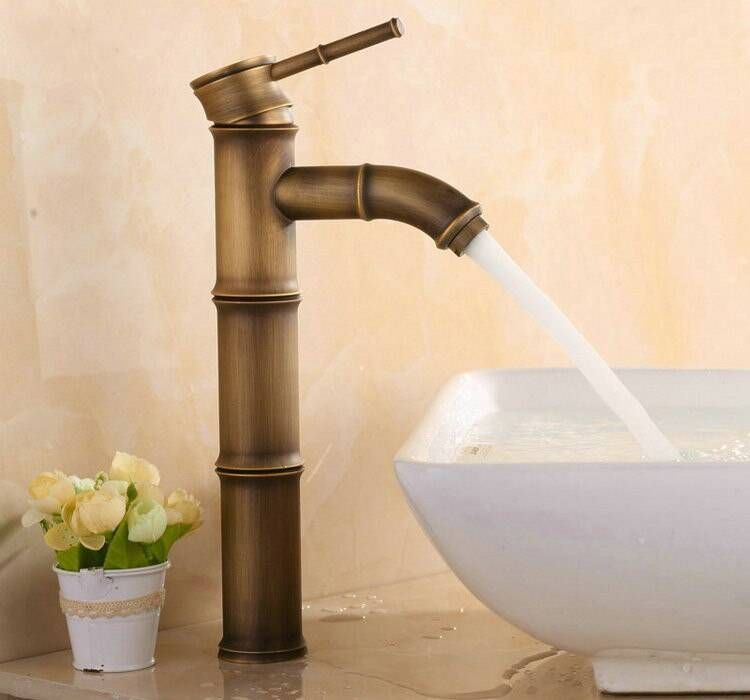 Photo of Old old brass bamboo bathroom tap XR-GZ-8024