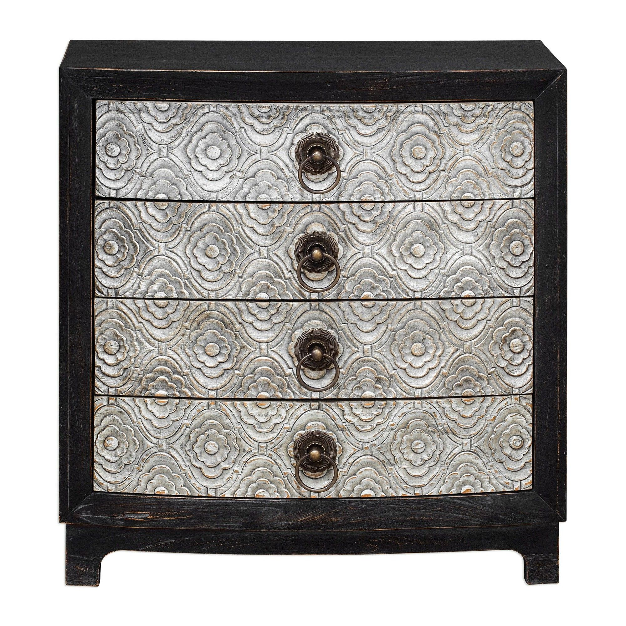 Galli Hand Carved Accent Chest