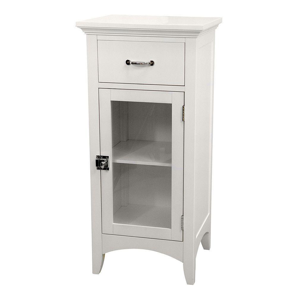 Elegant Home Fashions Mableton Floor Cabinet White
