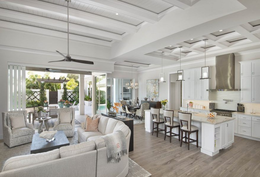 olde florida style custom coastal home design - weber design group