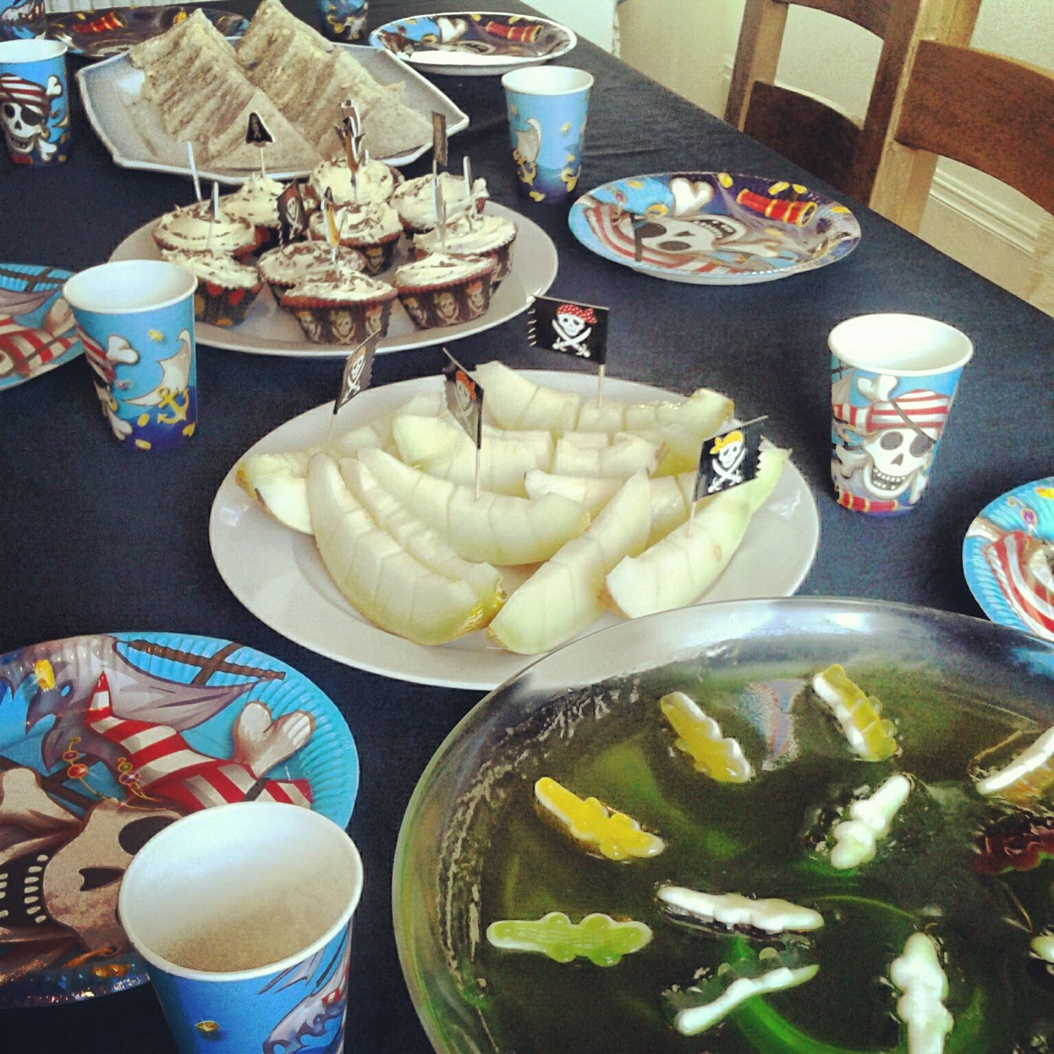 Party Jelly Ideas: Pirate Party Food Ideas. Swamp Jelly And Melon Boats