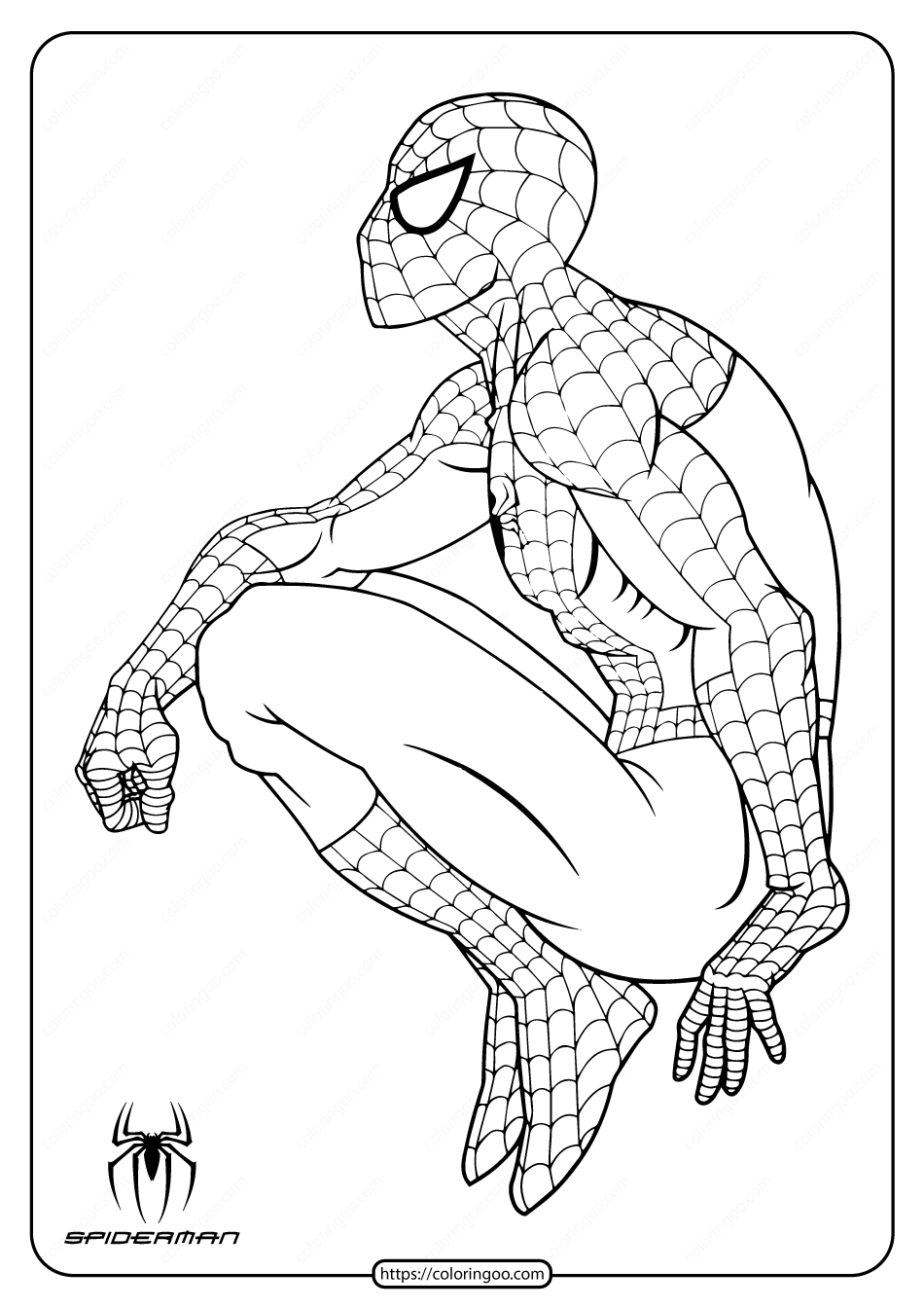 Marvel Hero Spiderman Pdf Coloring Page Spiderman Coloring Superhero Coloring Pages Avengers Coloring Pages