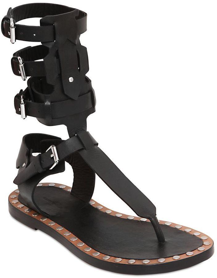 08e9d6d96a25 Isabel Marant Jeepy Leather Gladiator Sandals
