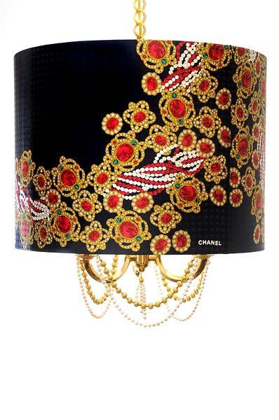 Chanel scarf chandelier