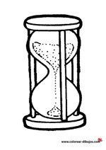 Dibujo De Reloj De Arena Para Imprimir Y Colorear Relojes