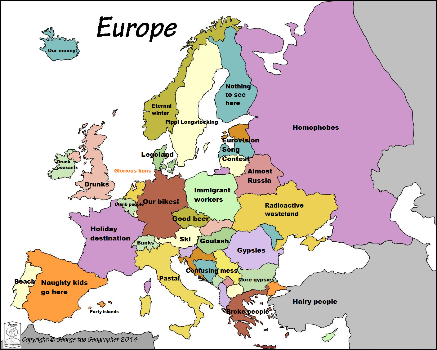 Europe according to the Dutch Netherlands Pinterest Dutch