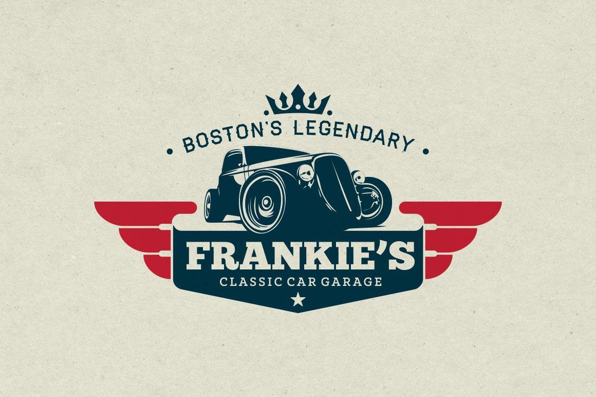 Classic Car Garage Logo by g design on creativemarket