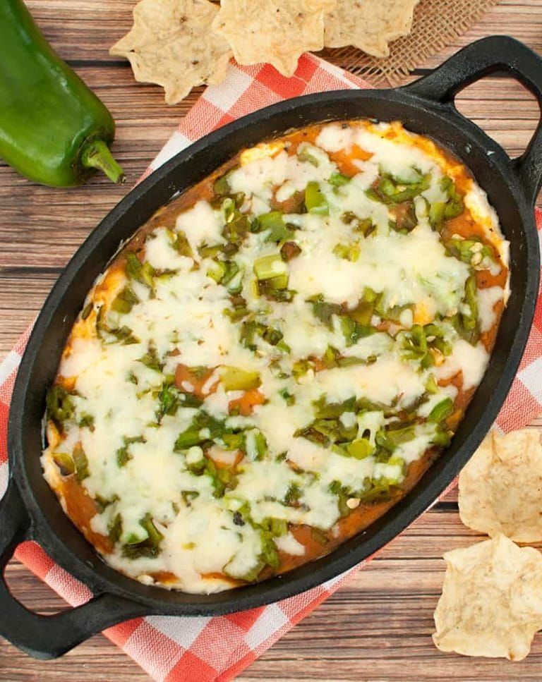 Easy dip recipe inspired by the popular Mexican dish This Chile Relleno Dip makes a great appetizer for Cinco de Mayo a potluck or party