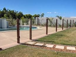 Timber Post Glass Pool Fence Google Search Glass Pool Fencing Pool Gate Glass Pool
